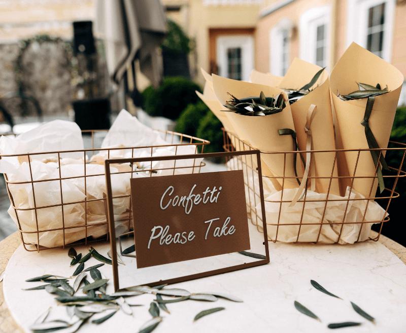Grüne Hochzeitsdeko Ideen