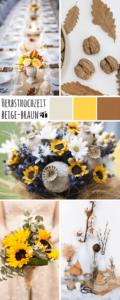 Herbsthochzeit, Hochzeit Herbst, Hochzeitsdeko Herbst, Herbst Hochzeitsfarben, Hochzeit braun beige