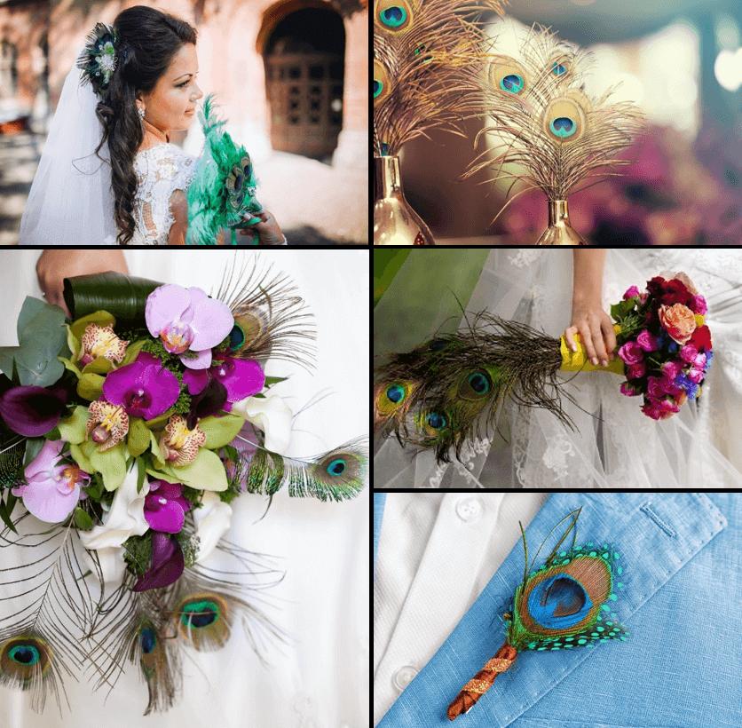 Hochzeitsdeko mit Federn, Federdeko Hochzeit
