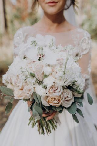 Brautstrauß weiß rosa
