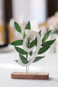 Tischnummern Hochzeit Acryl