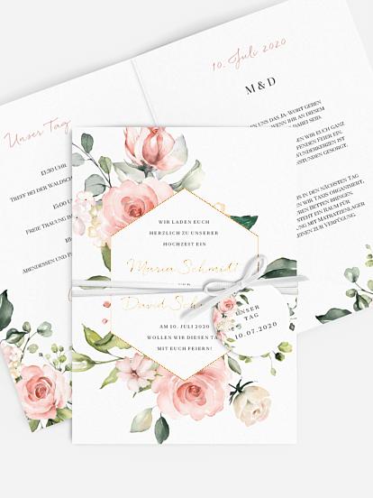 florale Hochzeitskarten Kartenmacherei