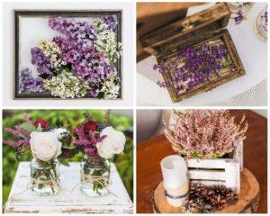 Lila Hochzeitsdeko, Hochzeit Flieder, Hochzeit Lavendel