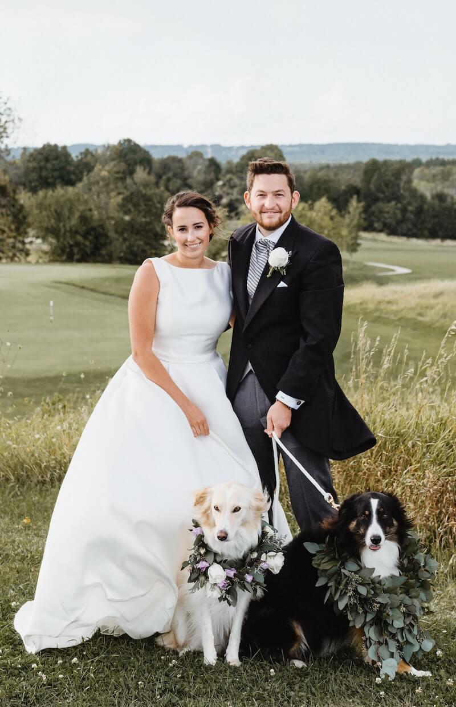 Hochzeit mit Hunden