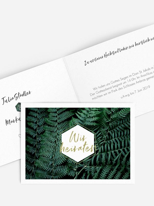 Tropical Wedding Kartenmacherei