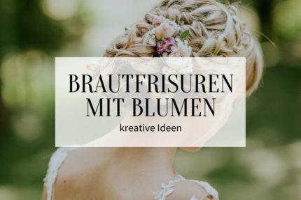 Brautfrisuren mit Blumen