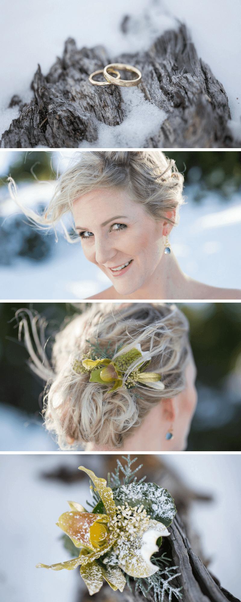 Hochzeit im Winter: Zauberhaftes Brautpaarshooting - Hochzeitskiste