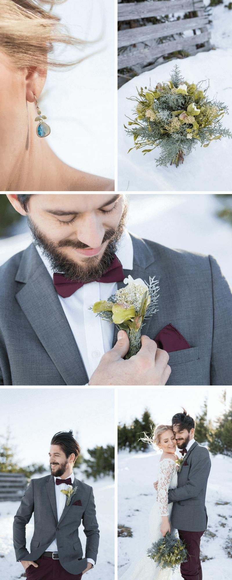 Hochzeit Im Winter Zauberhaftes Brautpaarshooting Hochzeitskiste