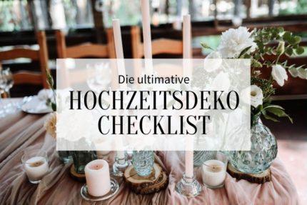 hochzeitsdeko checklist, diy hochzeitsdeko