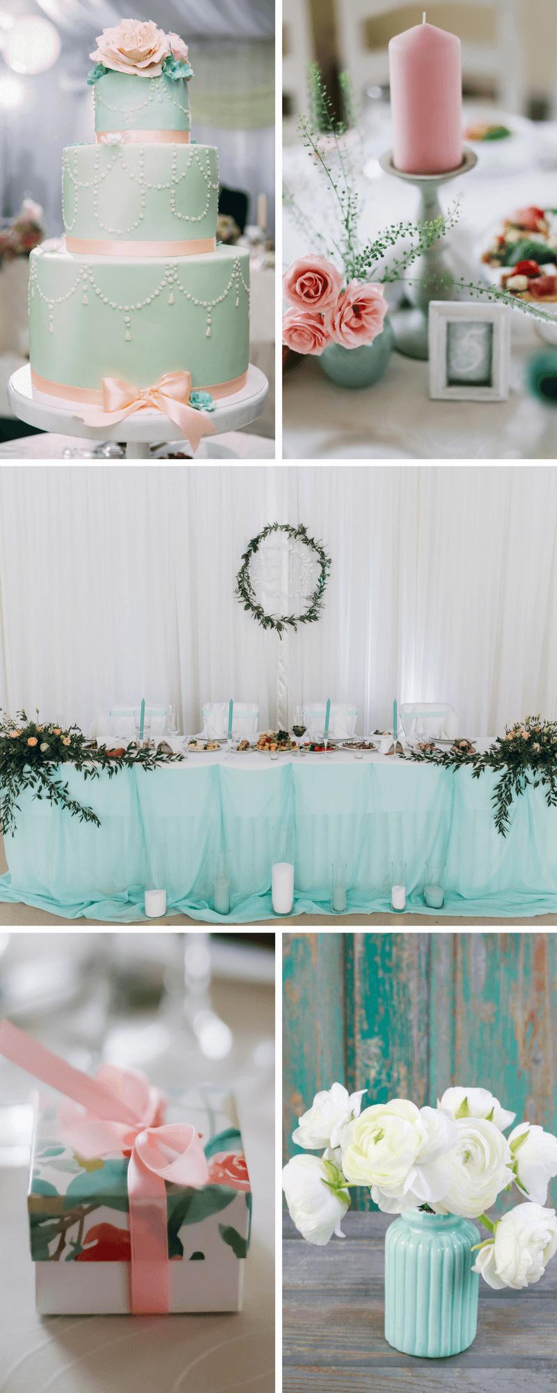 Fruhlingshochzeit In Rosa Und Mint Turkis Hochzeitskiste