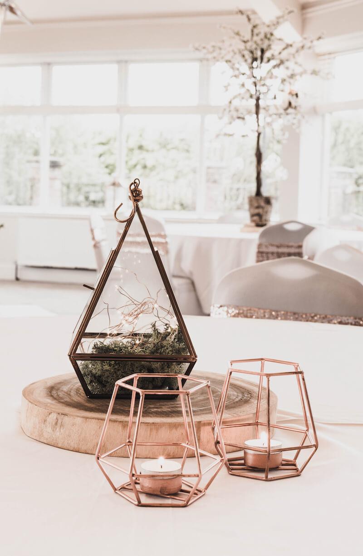 Tischdeko geometrisch