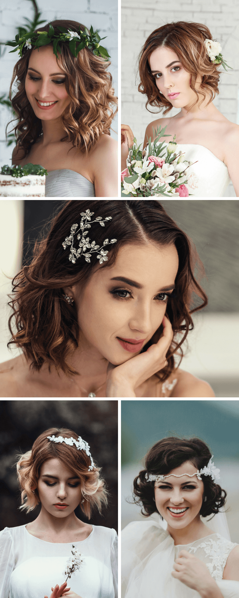 8 Brautfrisur-Ideen für kurze und mittellange Haare - Hochzeitskiste