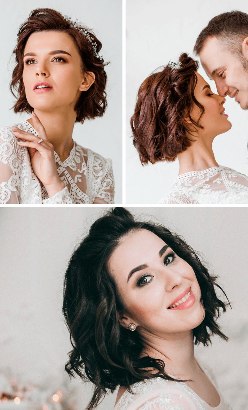 9 Brautfrisur-Ideen für kurze und mittellange Haare - Hochzeitskiste