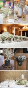 Tischdeko Hochzeit, Tischdeko minimalitisch, Hochzeitsdeko