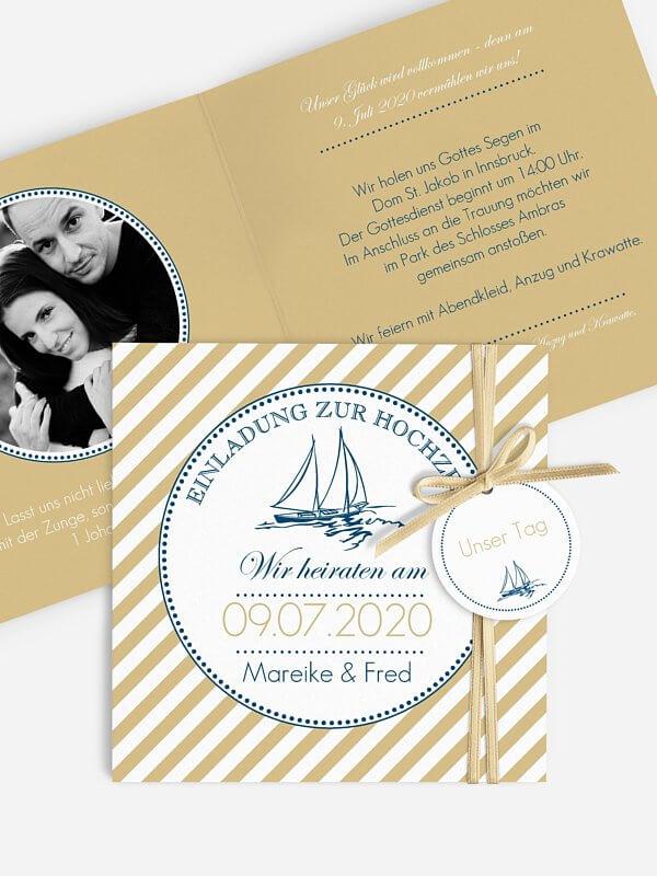 maritime Hochzeitskarten Kartenmacherei