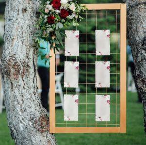Sitzplan Hochzeit elegant