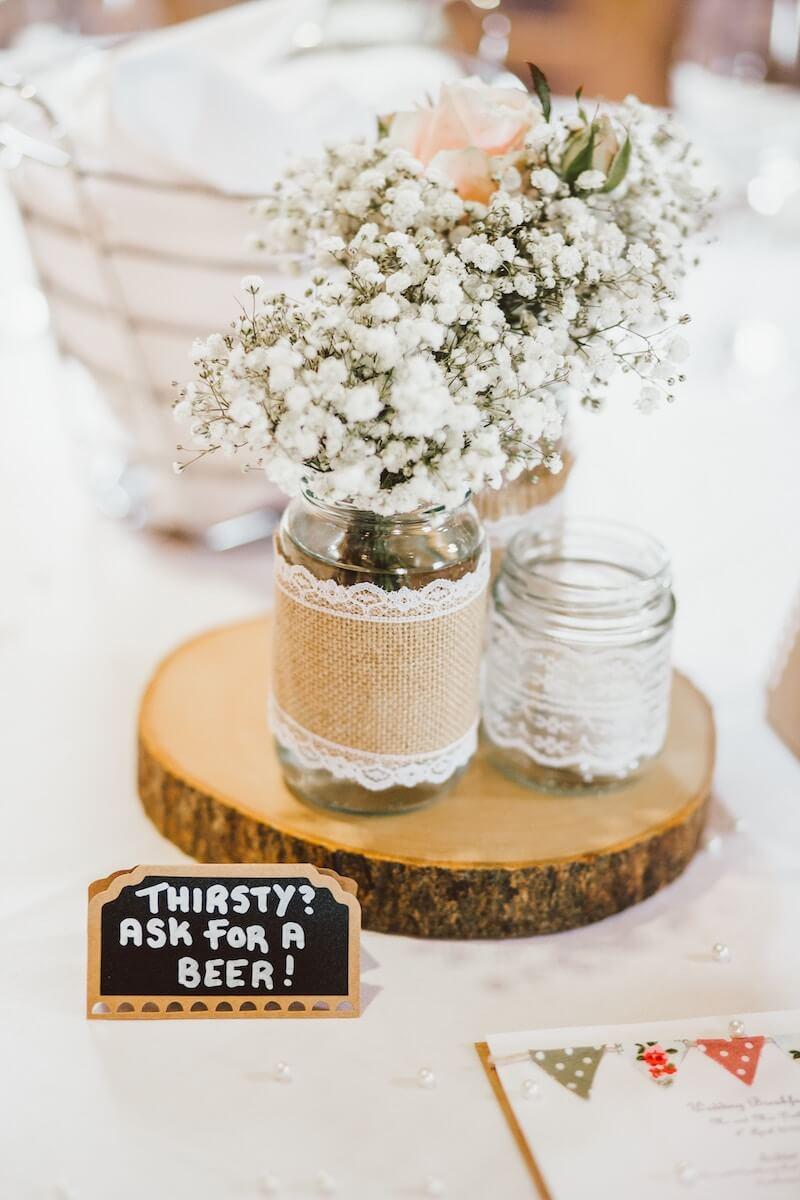 Tischdeko nachhaltige Hochzeit