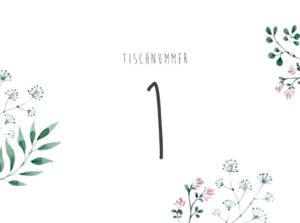 Tischnummern zum Ausdrucken, Vorlagen Tischnummern