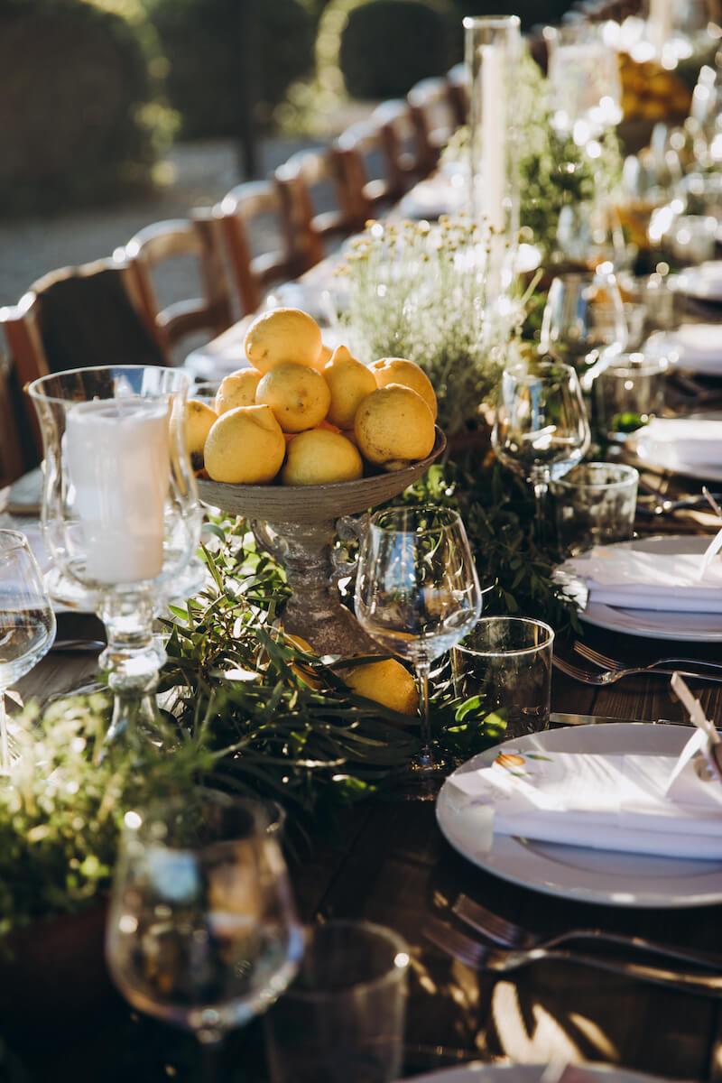 Hochzeit in Gelb, Hochzeitsdeko gelb