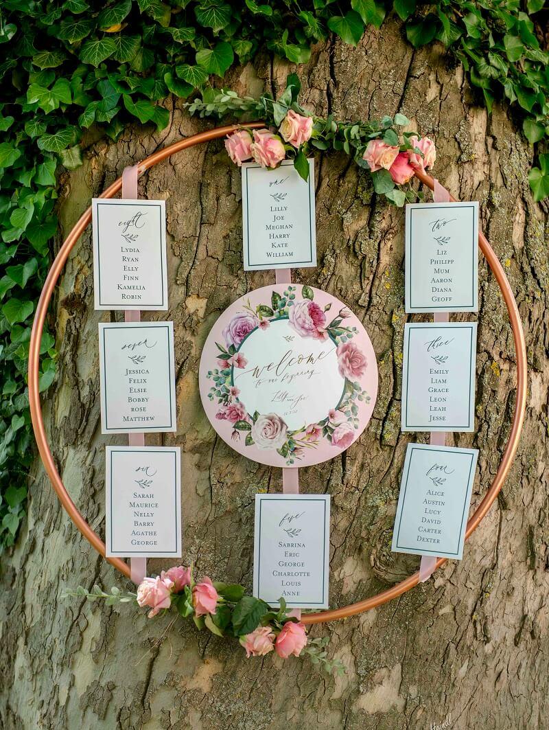 Vintage Hochzeit In Pastell Rosa Und Pfirsich 2 Hochzeitskiste