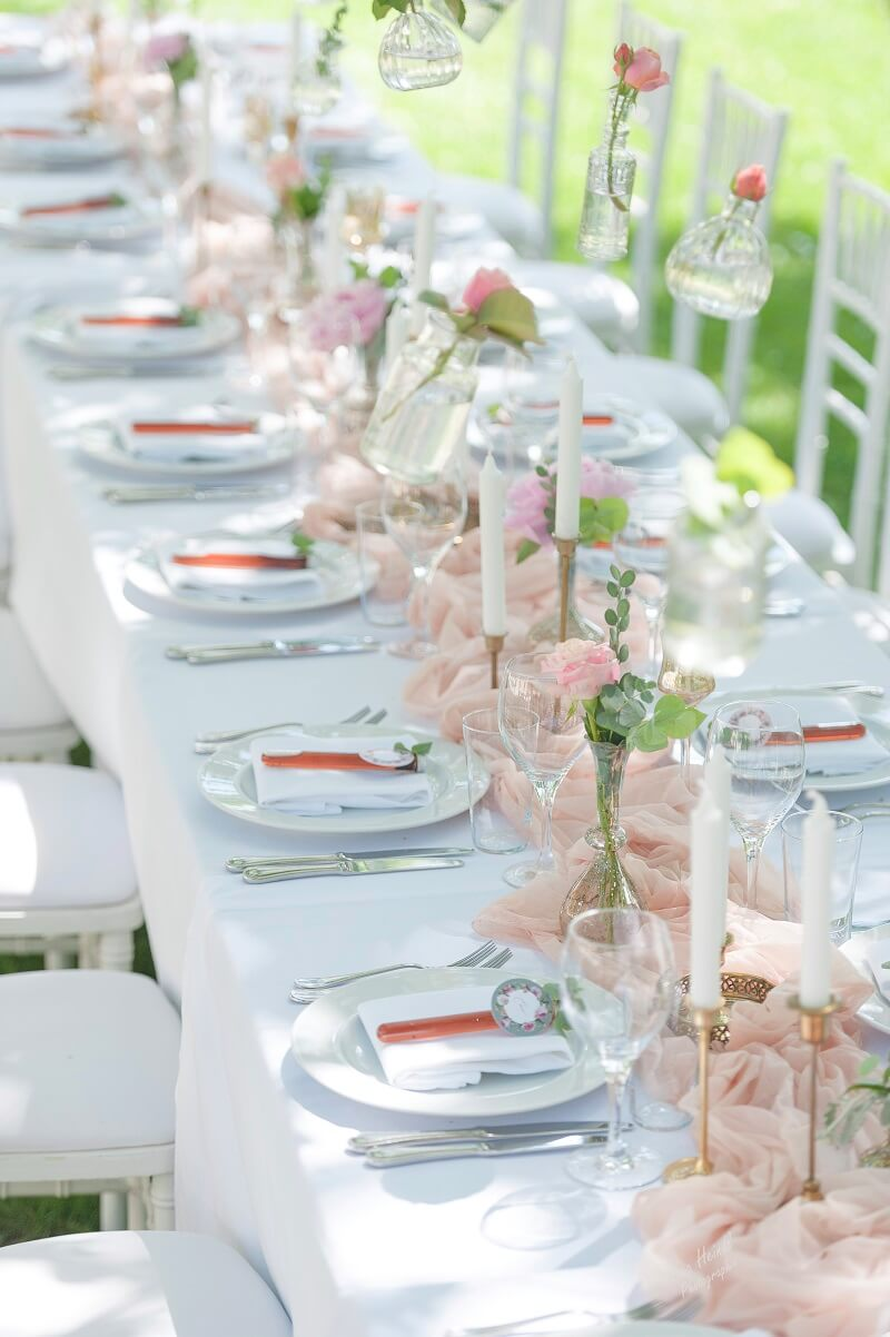 Vintage Hochzeit In Pastell Rosa Und Pfirsich 3 Hochzeitskiste