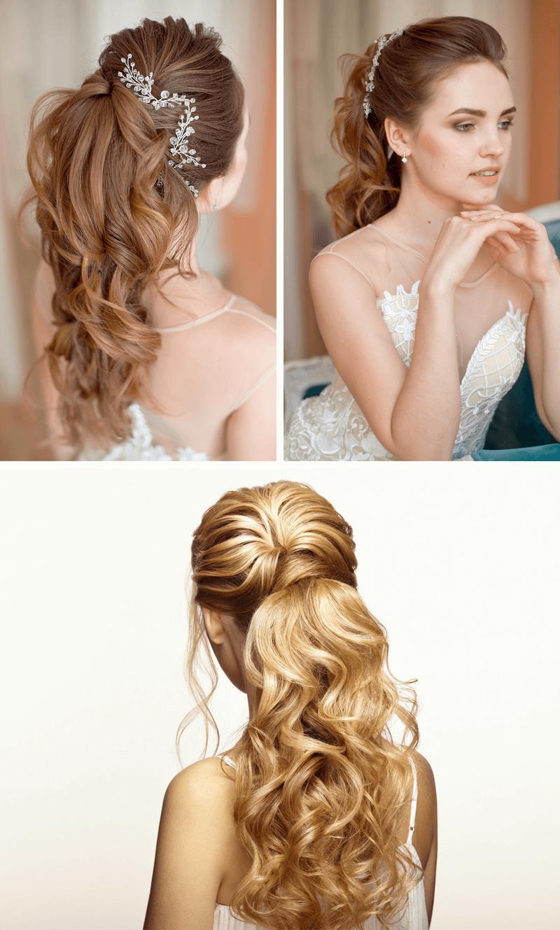 Brautfrisuren Lange Haare Seitlich Pony Frisur