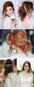 Brautfrisur halbhoffen, Brautfrisur halb hochgesteckt, Brautfrisur lange haare