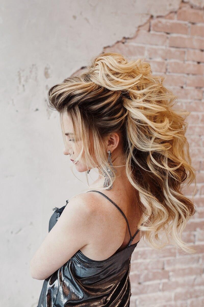 Frisuren halb hochgesteckt bilder