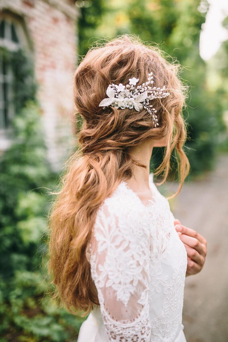 Frisuren halblange haare hochzeit