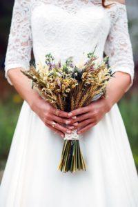 Brautstrauß rustikal, Brautstrauß originell