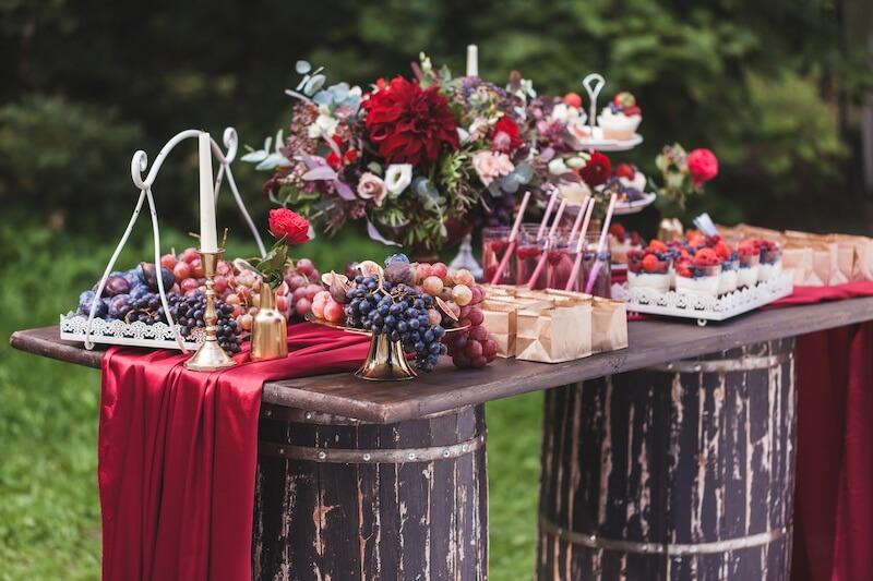Sweet Table mit Beeren