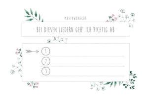 Liedwünsche DJ Hochzeit, Musikwünsche DJ Hochzeit