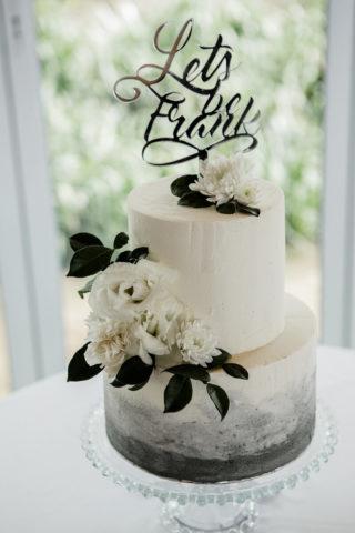 Ombre Hochzeitsdeko in Schwarz-Weiß
