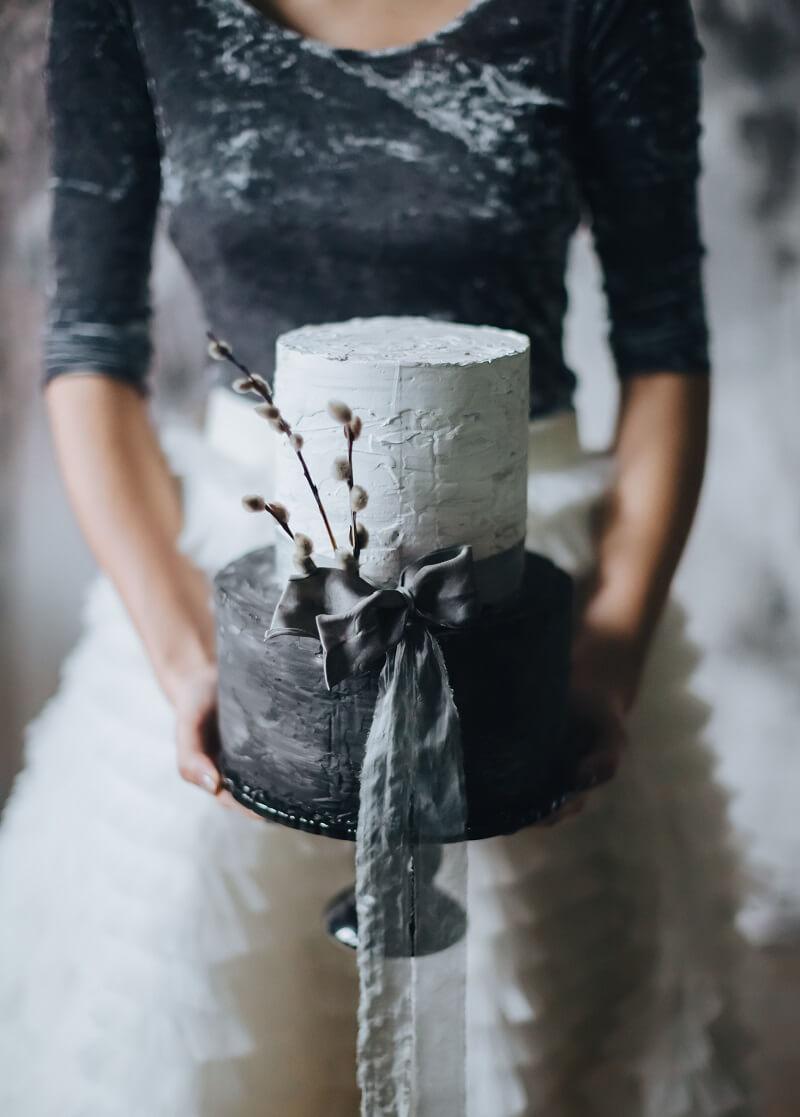 Hochzeitstorte in Schwarz