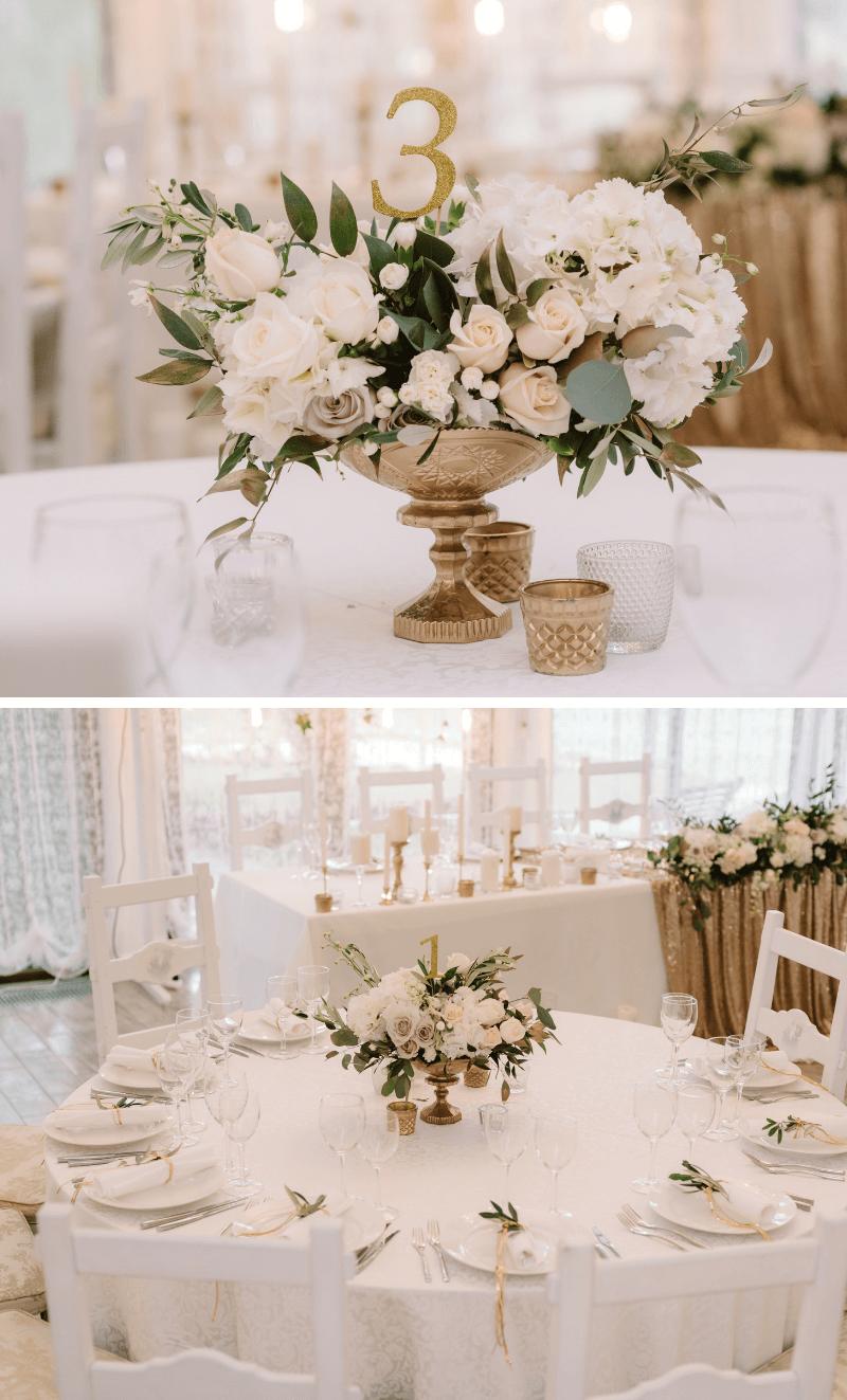 Edle Glamour Hochzeit In Gold Und Weiss 3 Hochzeitskiste