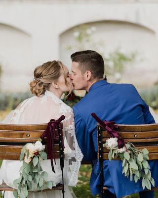 elegante Burg Hochzeit