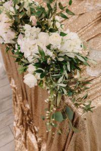Hochzeit gold und weiß