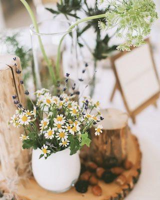 Wildblumen Hochzeitsdeko