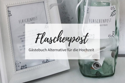 Flaschenpost Hochzeit, Hochzeit Gästebuch Alternative, DIY Hochzeit