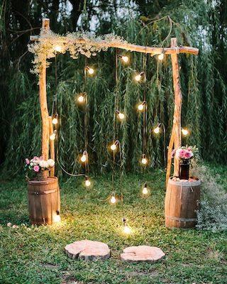 Lichter Hochzeitsdeko