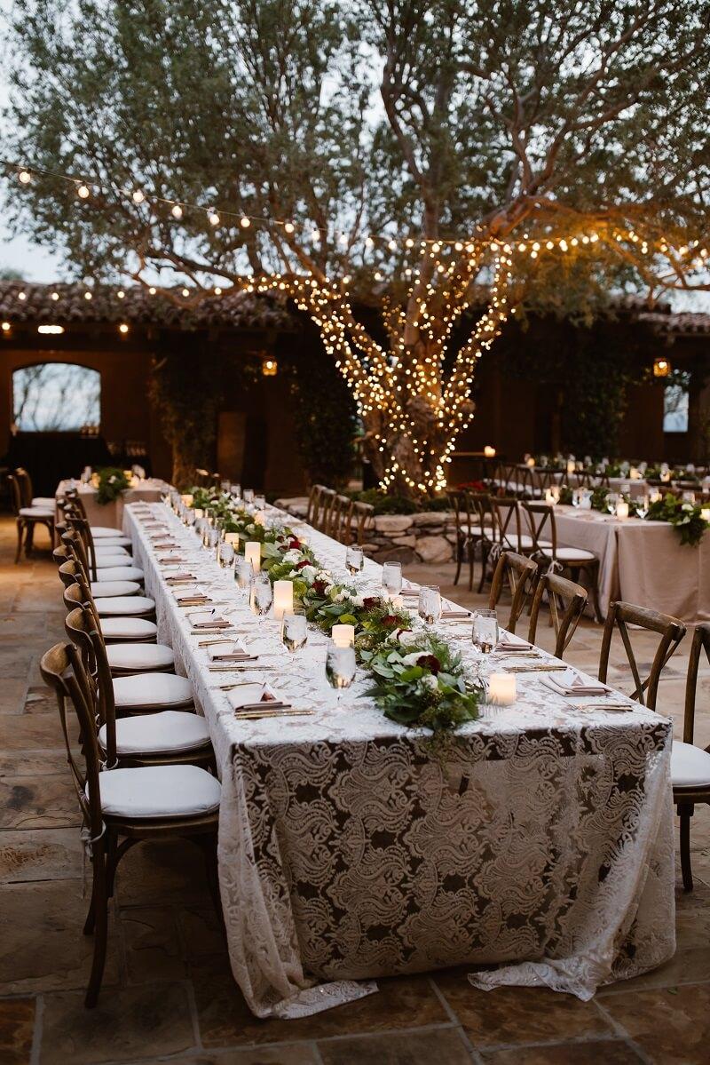 An Outdoor Dinner Celebration Long Table Setting Hochzeitskiste