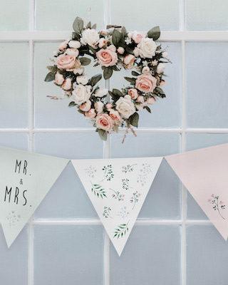 Hochzeit DIY Girlande zum Ausdrucken