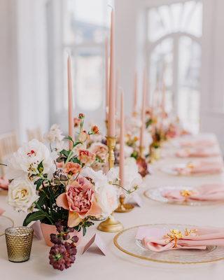 Rosa Hochzeitsdeko-Ideen