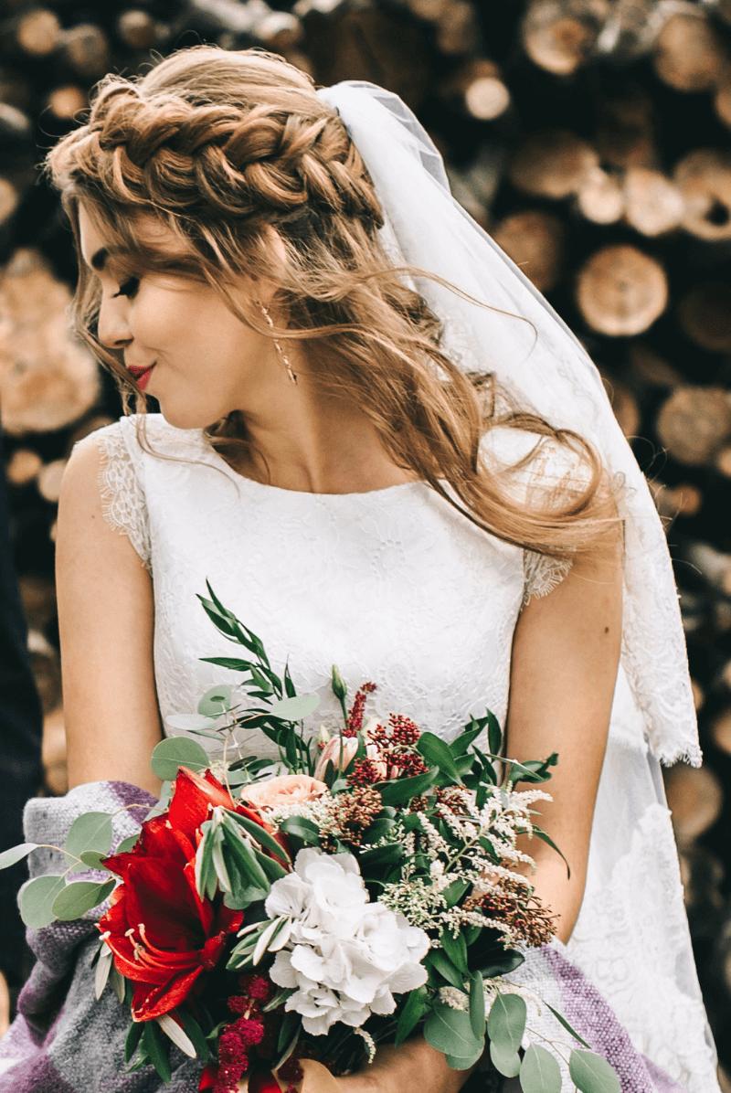 Brautfrisur mit Schleier, Hochzeitsfrisur Schleier (12