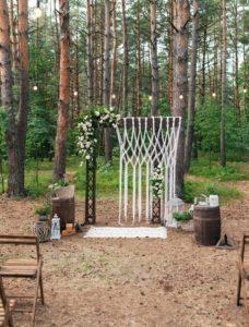 Boho Hochzeitsbogen Makramee