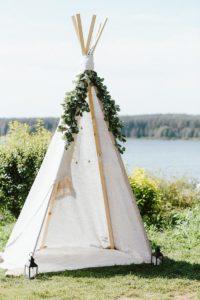 Boho Hochzeitsdeko Zelt