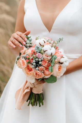 Brautstrauß in Apricot