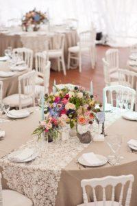 Tischdeko Hochzeit runde Tische, runde Tische Hochzeitsdeko