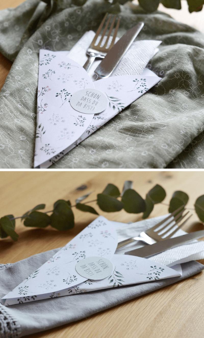Fabulous DIY Bestecktaschen und -anhänger für die Hochzeit - Hochzeitskiste CZ87