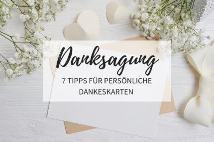 Danksagung nach der Hochzeit, Tipps Dankeskarten, Dankeskarten Hochzeit